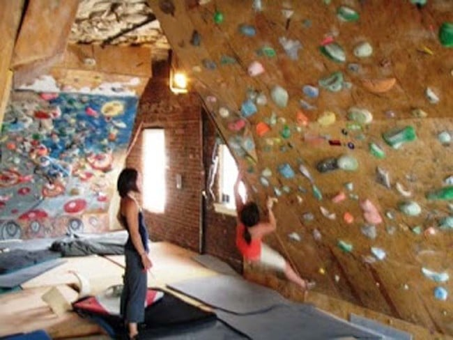 climbing wall loft conversion